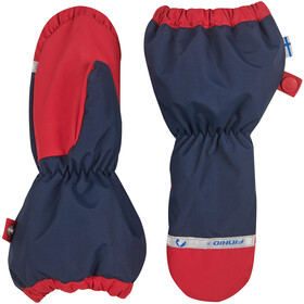 Finkid Pakkanen Outdoor Mittens with Snowcuff Kids, navy/red